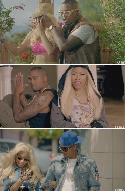 New Video: Nicki Minaj Featuring Chris Brown – Right By My Side (Starring Nas)'I'm Not Living If You're Not By My Side'…  Nicki Minaj explores her soft, vulnerable and romantic side in her newest video for, 'Right By My Side'. And although we'd expect to see her cuddled up with Chris Brown in the video, it's fellow Queen's rapper Nas that's there to make her heart flutter and spoil her with nice things.  Meanwhile, Chris comes around just in time for the second verse. (Watch on YouTube… via Necole Bitchie…)