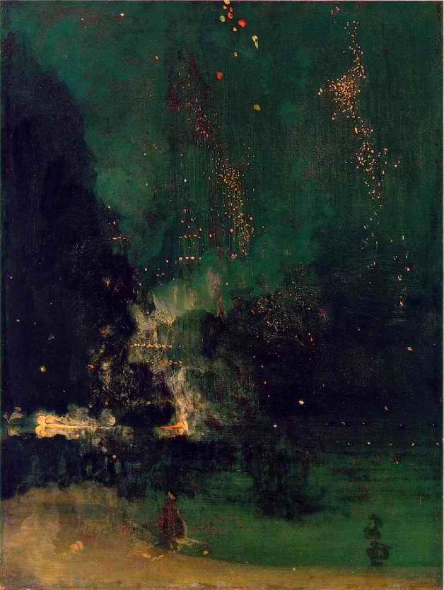 James Abbott McNeil Whistler  Nocturne at Night (1875)  Gorgeous