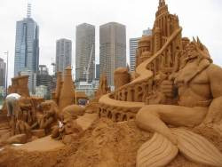The Little Mermaid Sand Sculpture