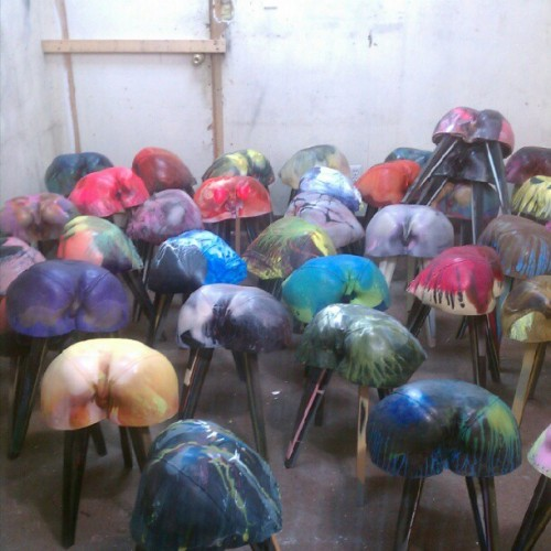 Painted butt chairs? (Taken with instagram)
