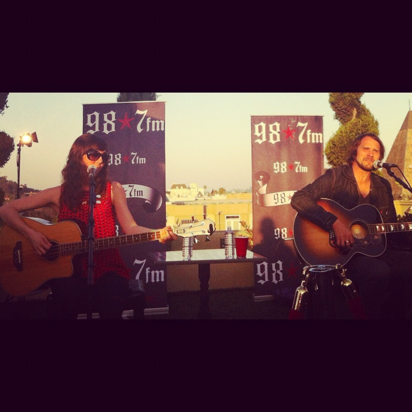 Behind-the-scenes with Silversun Pickups at the 98.7 Penthouse in LA! Stay tuned this week for our coverage from the night…