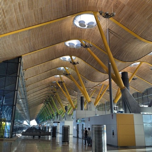 #Barajas #Airport by #RichardRogers #Spain #España #architecture #archdaily #Madrid #munichairport #instagood #iphonesia  (Taken with Instagram at Terminal 4)