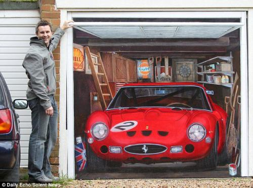 Drawing on Garage - 1962 Ferrari 250 GTO A way to own a Ferrari~~~~:D