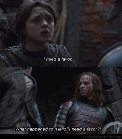 "arrestedwesteros:  G.O.B.: I need a favor. Michael: What happened to ""Hello. I need a favor?"" Pier Pressure - 1x10 submission from Brian Rubinow"