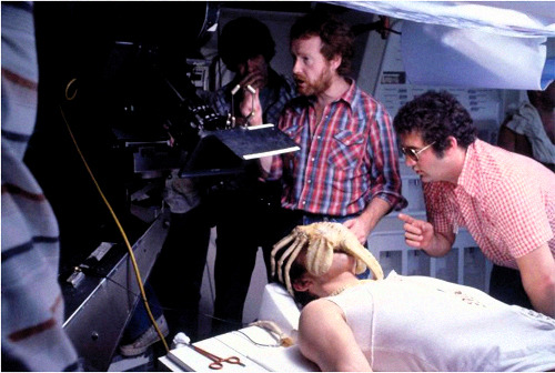 ridleyscotts:  Ridley Scott on the set of Alien (1979)