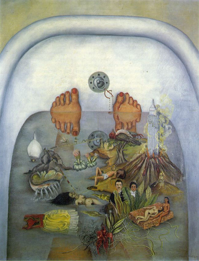 What The Water Gave Me (1922) by Frida Kahlo Florence Welch of Florence and The Machine was inspired and titled a song after this painting by Kahlo.