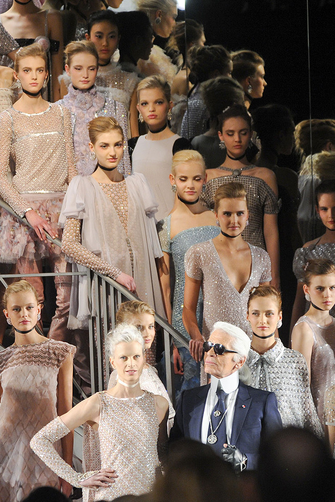 Chanel haute couture grand finale, spring 2011