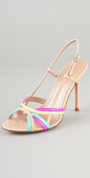 Jean-Michel Cazabat Orabela Strappy Sandal in Fuschia, Mint and Yellow