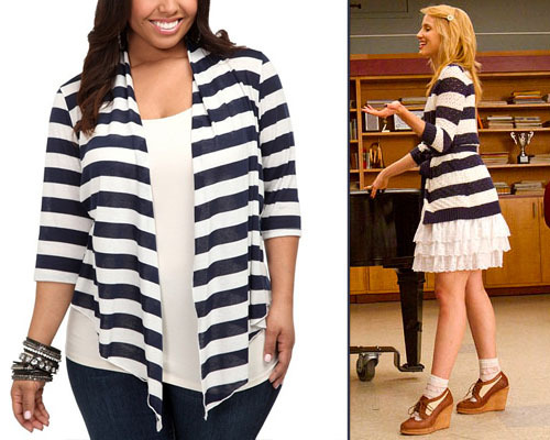 Torrid White and Navy Open Cardigan - $38.50