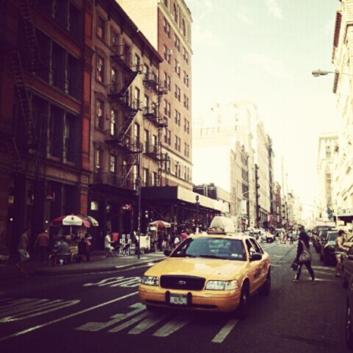From Soho to Upper East Side. #NYC #Newyork #yellowcab #Soho (Taken with instagram)