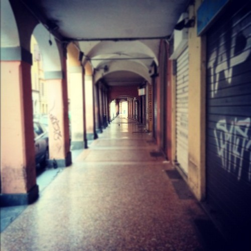 goddamnwalls:  Portico di via petroni,  6 AM (Taken with instagram)