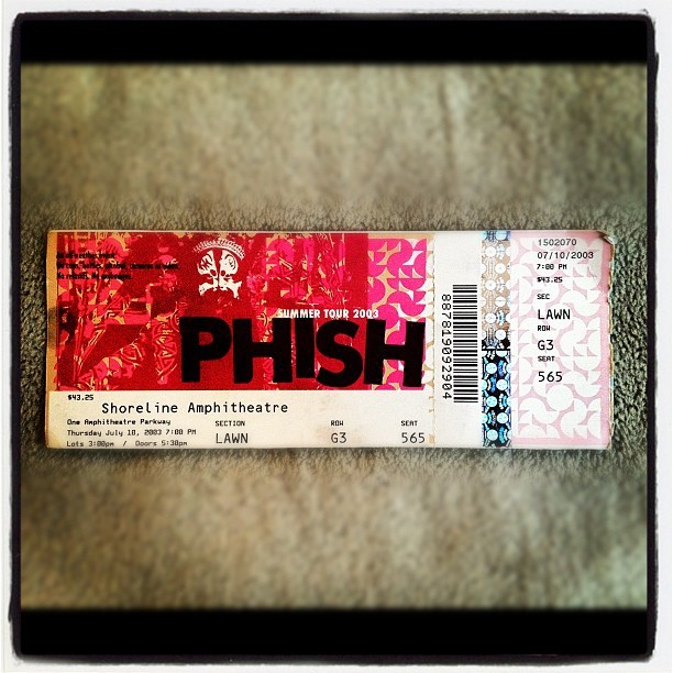 Phish @ Shoreline Ampitheater in Mt. View, CA - 07/10/03 (Taken with instagram)