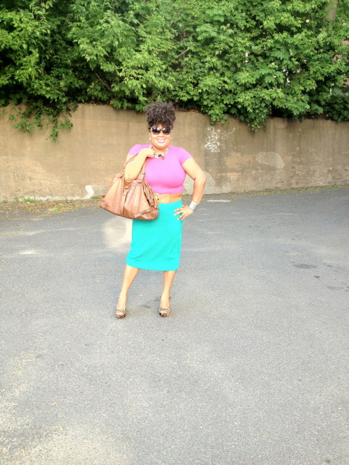 athickgirlscloset:  Colorblocked and Thrifted Plus Size Style!! Submitted by http://www.locs2fro.tumblr.com
