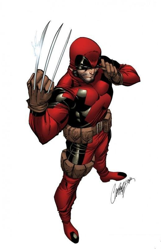 ammunitionwaltz:  Wolverine stole Deadpool's costume. That means that somewhere, somehow, there is a naked Deadpool out there. Waiting.