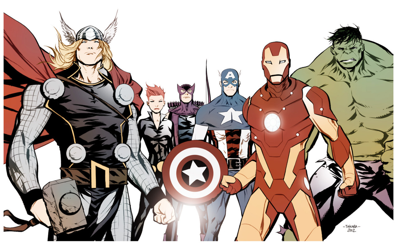 comicbookdeviant:  The Avengers // Illustration by Marcio Takara