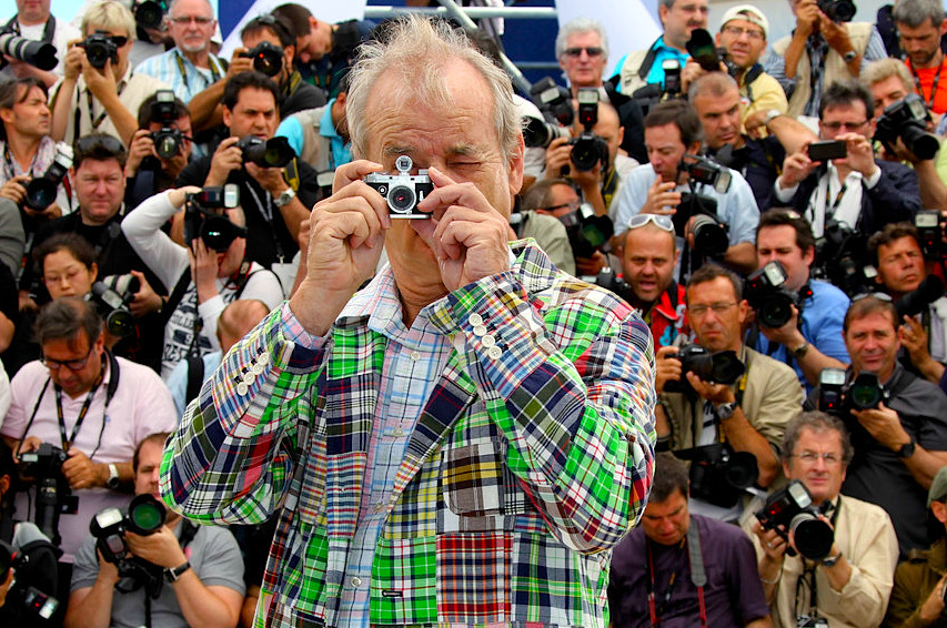 kateoplis:  Bill Murray photographs Cannes