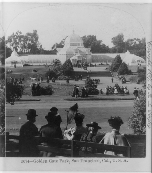 The Conservatory of Flowers in San Francisco, California, 20 May 1906.