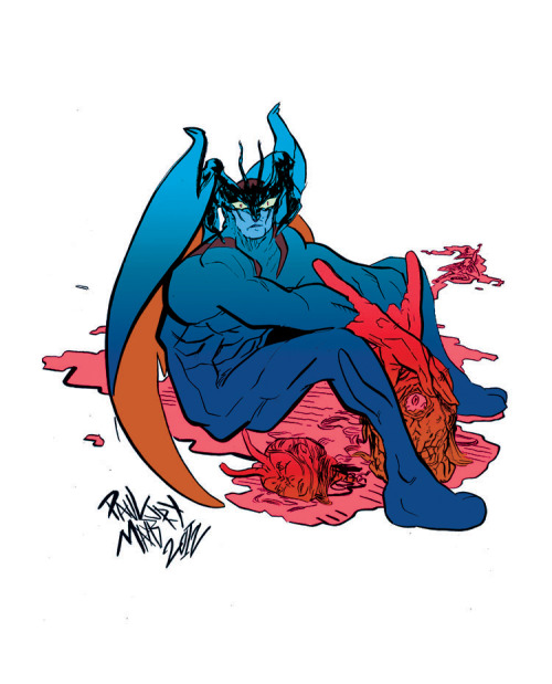 Devilman commission. Sort of sloppy colors with my broken mouse.