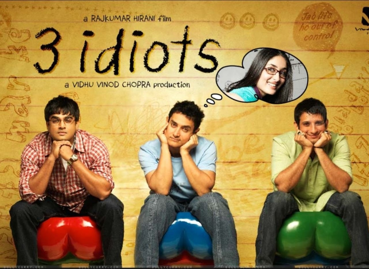 "3 Idiots (2009) movie of the night, it was a long movie but i enjoyed every bit of it, it was a friend recommendation and since i am doing a movie a day for two weeks i need more like this one, so if you have any recommendation i would appreciate it. p.s i can't get the song ""all izz well"" out of my head."
