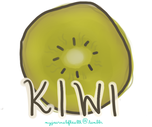 myjournalofhealth:  Disease Prevention  Fiber: Kiwi provides 16% of the RDA for fiber and has a role in the prevention of constipation and some cancers. Phytonutrients: Kiwis have phytonutrients, which repair DNA, act as the body's protection against some cancers, and function as antioxidants. Vitamins Folic Acid: Kiwi provides 10% of the RDA for folic acid, which is important for expectant mothers and works to produce red blood cells. Vitamin C: One serving of kiwi gives the body 230% of the RDA for Vitamin C, which helps heal wounds, increase iron absorption, and boost the immune system. Vitamin E: Kiwi provides 10% RDA for Vitamin E and decreases the risk of heart disease. Minerals Calcium: Kiwi provides 5.5% of the RDA for Calcium. Chromium: Kiwi aids in regulating heartbeats. Copper: Kiwi provides 8% of the RDA for Copper. Iron: Kiwi provides 4% of the RDA for Iron. Magnesium: Kiwi provides 6% of the RDA for Magnesium, which  can enhance your energy level. Potassium: Kiwi aids in fluid maintenance. Zinc: Kiwi helps keep hair, skin, teeth, and nails healthy. (x)