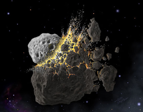 """Asteroid Breakup"" by Don Davis.  I feel like I must have posted this before, but I can't find it, so I guess I didn't."