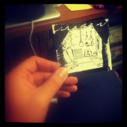 Tiny drawing for one of my characters house.  (Taken with instagram)