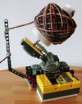 Lego Yarn Winder! WOAH. That's so cool!