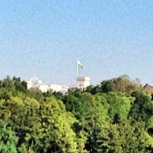 Triglav & LJ castle from Golovec #bestviewintown (Taken with instagram)