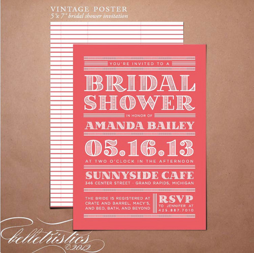 visualgraphic:  Bridal Shower Invitation