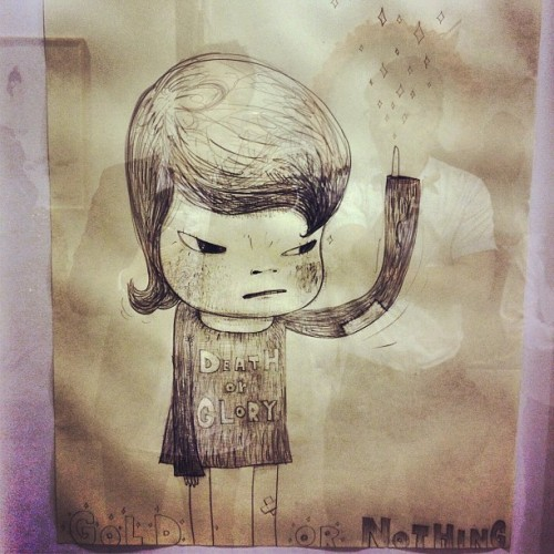 Wonderful Yoshitomo drawing @ Tomio Koyama (Taken with Instagram at Art HK)