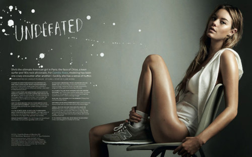 girlsbravo:  Camille Rowe by Charlotte Wales for Foam June/July 2012