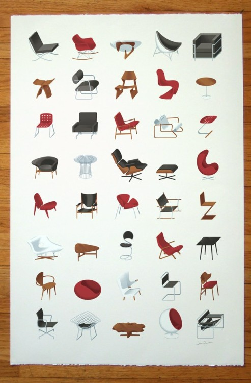 whereisthecoool:  Mid-Century Modern Collection Print