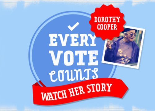 Dorothy Cooper was born in 1915, before women could exercise the right to vote in the United States. In 70 years, she's missed just one election. She doesn't intend to miss another. She knows what she needs to have her vote in Tennessee count, and with the help of a local volunteer she's determined to get it.