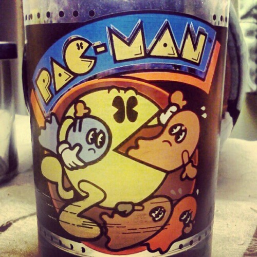 #vintage #80s #pacman tumbler (Taken with instagram)