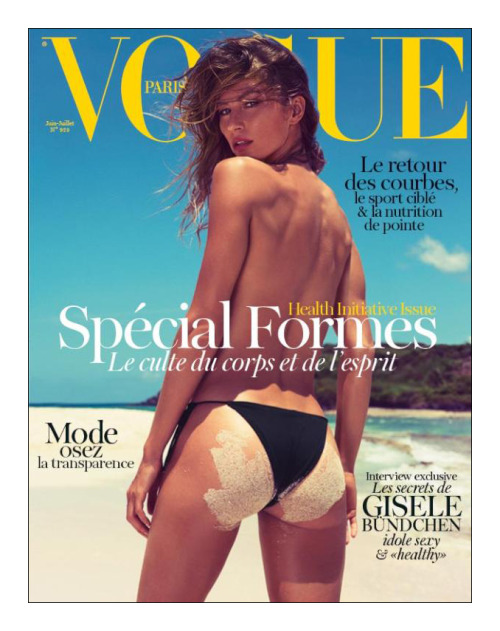 Gisele Bündchen shot by Inez van Lamsweerde and Vinoodh Matadin for the cover of Paris Vogue. Emanuelle Alt bringing it back to the sexy style of Carine Roitfeld's era?