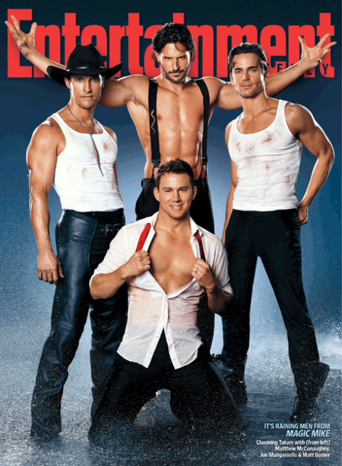 Magic Mike cast (EW, May 2012)