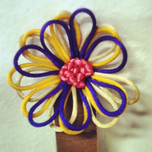 Flower brooch for Colores exhibition! Thx to Tapestry team:))) #pretty #beautiful #nice #flower #brooch #spain #tweegram #instagood #igers #ig #instadaily #iphonesia #picoftheday  (Taken with Instagram at Lasalle College of the Arts)
