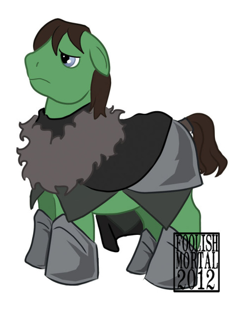 And another pony before I call it a night, Samwell Tarly of the Watch.  Previous Ponies: Littlefinger The Hound Dany and Drogo Team Dragonstone Brienne of Tarth The Starks The Lannisters