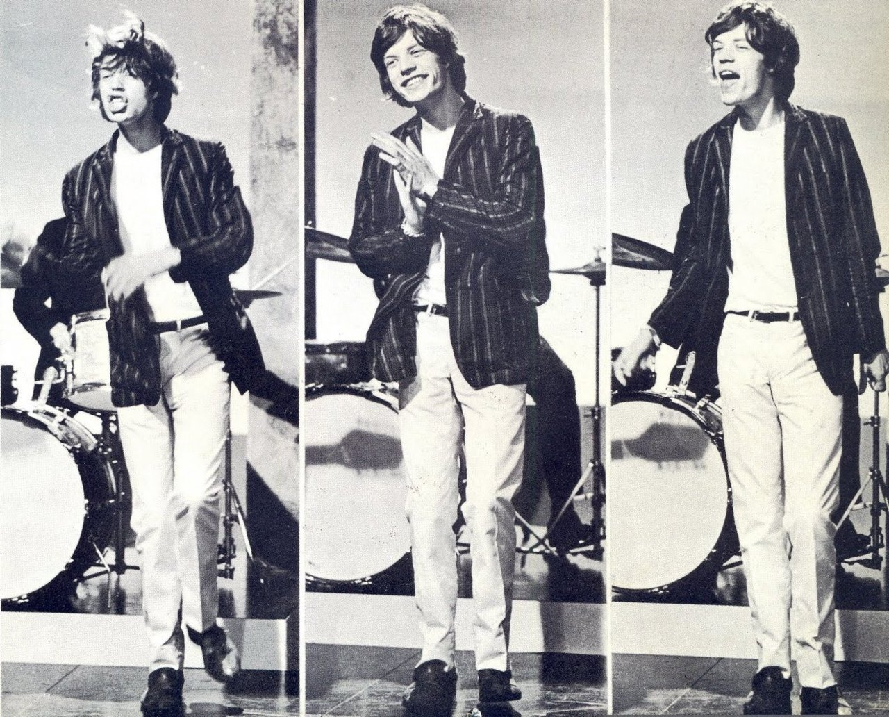 theswinginsixties:  Mick Jagger in action