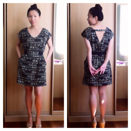 Sharing with you my #OOTD ;-) Dress: Forever 21 - Absolutely love this dress, so comfy and it has pockets :-) and don't you love the little surprise in the back? Shoes: ShoeDazzle - I could totally use some extra height :-)