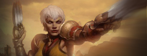 Diablo 3: Monk  I think I am in love! And it is not because I think the female monk looks hot…she does look hot by the way. It is just because the Monk happens to be a really interesting character to play! They have the potential to be every bit as ferocious as the Barbarian and they are the only melee fighter available besides the Barbarian. -Commentary from Diablonews.net