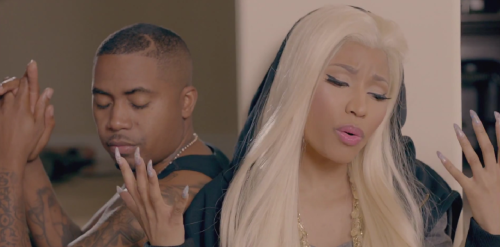 Nicki Minaj nails in her Right By My Side video featuring Chris Brown with Nas