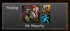 "Mr Munchy: ""Let's (t)roll!""  The best thing about being matched with players. This is too good."