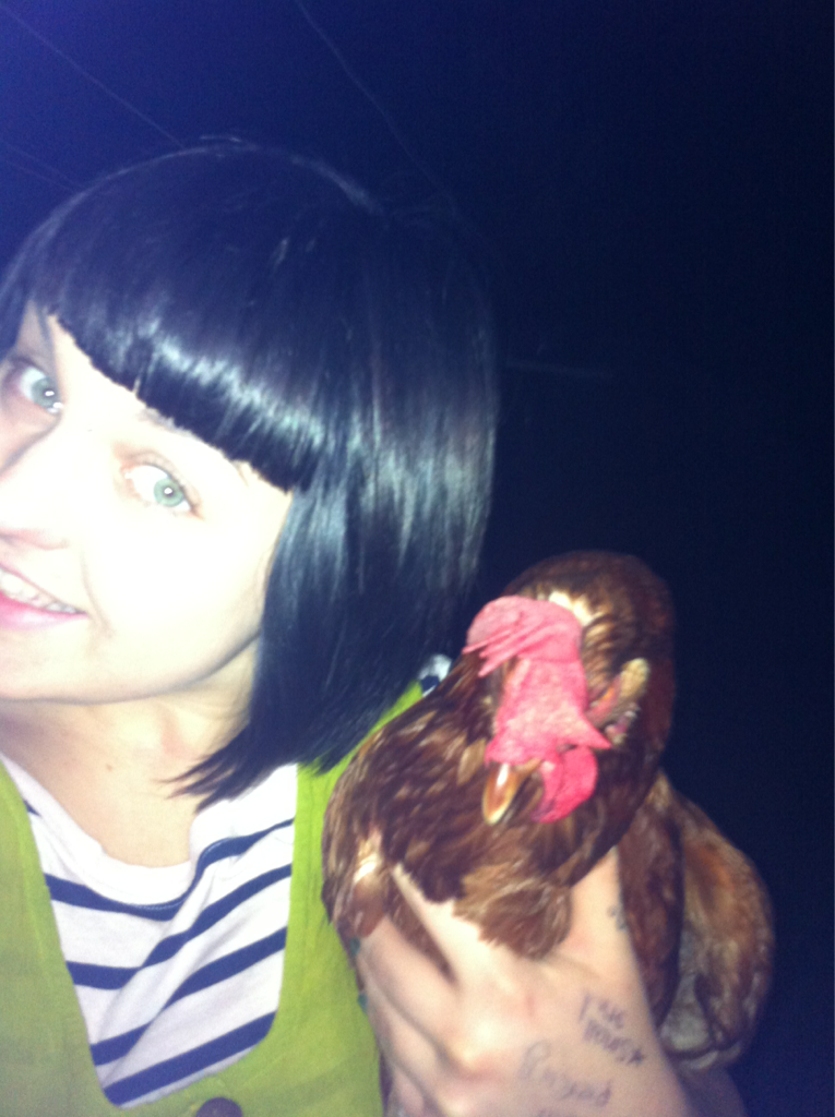 Me and my chicken.