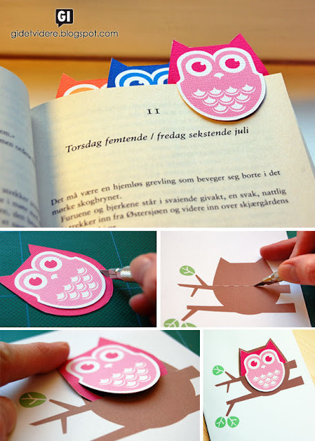 Cute printable for a diy owl bookmark!!