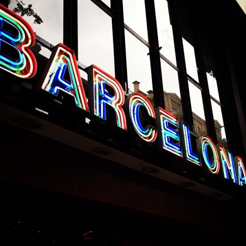 #Barcelona #neon #sign in Barcelona. #typography (Taken with instagram)