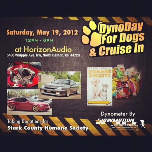 Dyno day for dogs. Saturday. Starts at noon. Taking donations for stark county humane society. #charity #dyno #cars #dogs #cats (Taken with instagram)