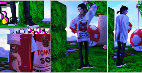 "Location: Electrobit City  OUTFIT Shirt: !gO! BIG T-shirt #21 Pants: [Pumpkin]Tight pants(grey) Shoes: kapone Leather Chucks  ACCESSOIRES  Glasses: [SteinWerk] - Shiny Meshnerd Glasses Folder:Reek - Reeker Keeper Watch: (TMS) Dutch Seawolf Chronometer Septumgauge: Cobrahive - Nose Swirl 00  BODY  Hair: [BURLEY] Kyle_Black01 Skin: *Zanzo* Hyperion ~ Lysander (Clean, Dk. Eyebrows) v1 Eyes: <A> EYES [Warrior][Panther] Ears: AITUI [MESH] - Stretched Ear - Tunnel Hybrid + Punch 3"" Tattoo: Ink'D Up! :Notorious: (Fresh Ink)"