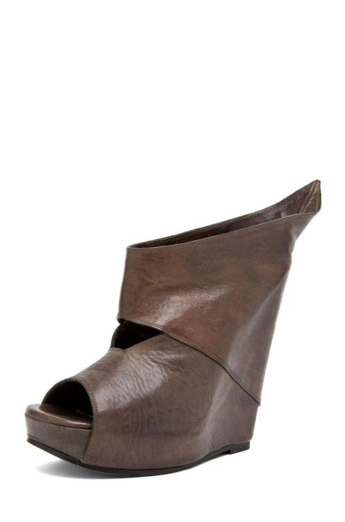 Rick Owens Wedge In Grey by RICK OWENS