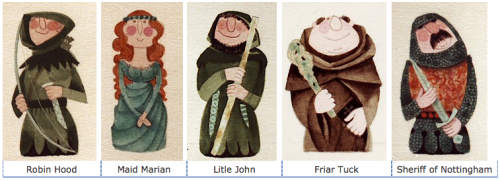 beatonna:  Some pretty cute Robin Hood designs by Kenneth Townsend.